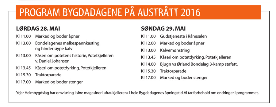 Program bygdadagene